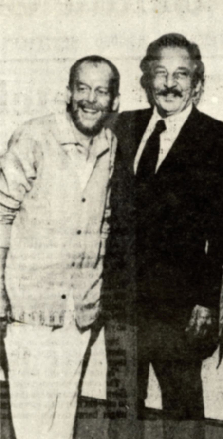 Syd with fellow artist David Budd     Photo: courtesy  Estate of Syd Solomon